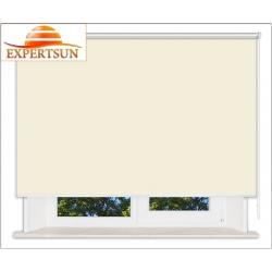 Рулонные шторы Люкс. Мадагаскар светло-желтый