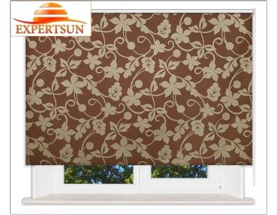Рулонные шторы Стандарт. Ажур коричневый