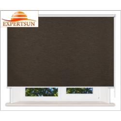Рулонные шторы Люкс. Аруба темно-коричневый