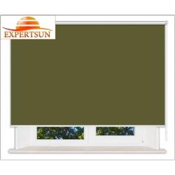 Рулонные шторы Люкс. Лусто темно-зеленый